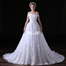$enCountryForm.capitalKeyWord Australia - 2017 Hot Sales High Quality White Ivory Ball Gown Wedding Dresses Bridal Gowns Vestido De Noiva Sexy off-Shlouder Zipper Vintage