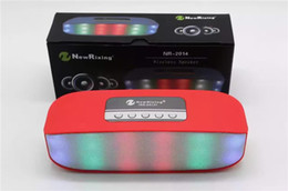 Portable Speaker Microphones Canada - Portable Mini Colorful Flash LED Light Wireless Bluetooth Speaker with Built-in Microphone Support TF USB FM Radio for Smartphone