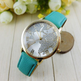 World hot dress online world hot dress for sale hot world map geneva leathe watches fashion unisex men women ladies dress diamond 2017 new quartz wrist watches for women ladies gumiabroncs Images