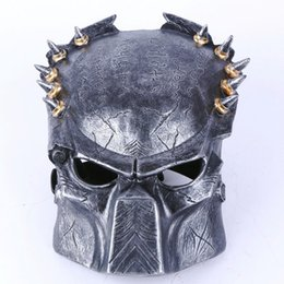 Gold Full Face Mask NZ - Hotsale Wolf Predator Masks, Resin Full Face Party Mask Mascara Carnaval ,Halloween Costume Theater Prank Prop Crazy Ball Mask