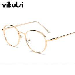 45e2e5923ed Wholesale- 2017 Luxury Women lasses Frame Vintage Round Clear Lens Glasses  Men Eyeglasses Frames Acetate Spectacles Gold Lunettes