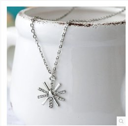 Necklaces Pendants Australia - 2016 Christmas Gift Frozen Necklace Princess crystal Rhinestone Snowflake Pendant Necklace women Girl Jewelry clavicle necklace