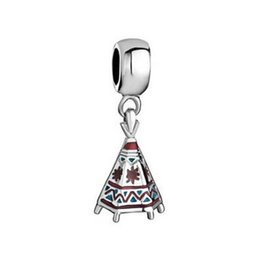 Tee Designs NZ - Fashion design high quality metal tee-pee charms colorful enamel byobu dangle charm Europea Beads Fit All Brands Bracelet