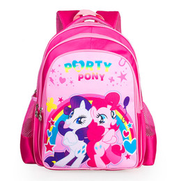 pony girl cartoon UK - Cartoon Pony Kids Bags Children Backpack Boy Schoolbag Children Quality School Student Backpack For Girls 3D Printing CH1504-3