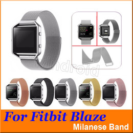 $enCountryForm.capitalKeyWord Canada - Cheapest Colorful Magnetic Milanese Loop Metal Band For Fitbit Blaze Tracker Band Smart Watch band Bracelet Strap + retail box DHL 200pcs