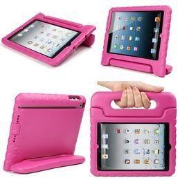 Ingrosso Caso della copertura dei bambini della prova di scossa del bambino di multi funzione con la maniglia del supporto per il mini iPad di Apple Tablet - Acquisto libero rosa caldo