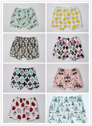 $enCountryForm.capitalKeyWord Canada - Summer INS Baby Kids Shorts Adorable Bloomers Harem Pants Infant Toddlers Cotton Fox Tent Lemon Feather Short Trousers Boys Girls Pants 9513