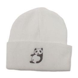 $enCountryForm.capitalKeyWord UK - Women Cute Panda Embroidered Daily Warm Chunky Beanie Soft Acrylic Knitted Cuff Beanie Skull Cap Winter Outdoor Ski Hat Unisex