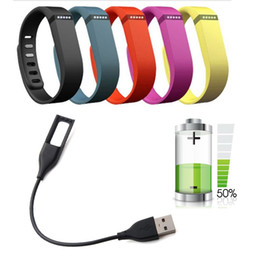 wristband for fitbit one Canada - 27CM USB Power Charger Charging Charge Cable Cord for Fitbit HR Wireless Wristband Bracelet VS fitbit force, one ,flex cable Free shipping