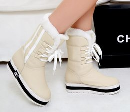 Discount easter tubes Fashion new fund with waterproof winter in thick bottom sponge with warm soft skin tube female boots in the snow boots