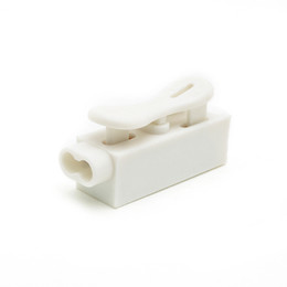 splice cable NZ - 20PCS ZQ-1P Self Locking Spring Wire Connectors Electrical Cable Clamp Terminal Block white Quick Splice Lock Wire Terminal Connectors