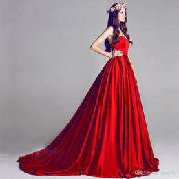 Free Quinceanera Dresses Canada - High quality Elie saab silk satin burgundy Evening Dresses 2017 free shipping Floor Length Formal Evening Gowns