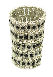 China Vintage Style Silver Golden Bohemian Crystal Wide Tribe Beads Carving Bracelet Bangle High Quality Fashion Women Jewelry 3Colors suppliers