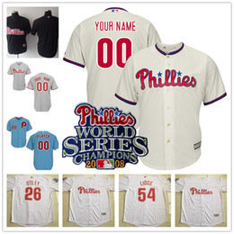 ... italy custom philadelphia phillies 2008 world series jerseys 26 chase  utley 11 jimmy rollins 51 carlos de77e82e497
