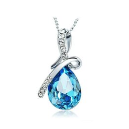 Chinese  Newest Austria Crystal Necklaces Jewelry Fashion Women Crystal Pendant necklace Jewelry Fit 925 Silver Necklace Pendant Jewelry manufacturers