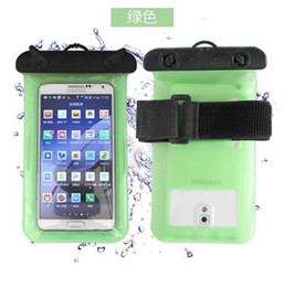 chinese hot water bag Australia - Hot Waterproof phone arm band bag with strap pouch case cover For Camera iphone 5S 6 plus For Samsung S7 6 inch plus swimming