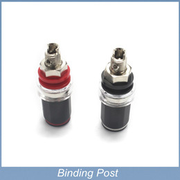 Speakers Binding NZ - Free shipping High Quality Brand New 2Pairs Speaker Cable Amplifier Terminal Binding Post