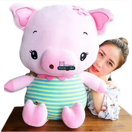 nice big dolls Canada - Dorimytrader Lovely 80cm Big Soft Animal Pig Stuffed Doll Giant Cartoon Pig Pillow Doll Nice Lover Gifts 30inches DY61689