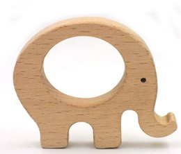 Wholesale 2017 hot Natural Maple Wooden Teething For Baby Necklace Bracelets Play Gym DIY Crafts Baby Teether