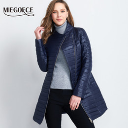 x201710 MIEGOFCE 2017 Spring Parka Coat For Women Thin Cotton-Padded Jacket  Oblique Placket Women s Jacket Coat Womens Quilted Coat Hot 984a48f72dac