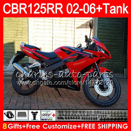 $enCountryForm.capitalKeyWord Australia - 23Colors Body +Tank For HONDA CBR125 R TOP red black CBR 125R 125RR CBR125R 02 03 04 05 06 80NO50 CBR125RR 2002 2003 2004 2005 2006 Fairing
