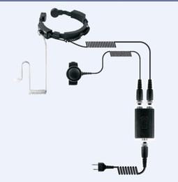 $enCountryForm.capitalKeyWord NZ - High sensitive Throat control mic headset earphone Dual PTT K plug 2 pins for Kenwood BaoFeng,Puxing,Quansheng etc walkie talkie