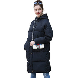 new cylinder Canada - 2017 Winter New pattern Hooded Thickening Large Size Medium Length Ladies Cotton-Padded Clothes Straight Cylinder Type Coat