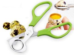 Egg crackEr online shopping - Pigeon Quail Egg scissor Bird Cutter Opener Kitchen Tool Clipper Cigar Cracker Blade