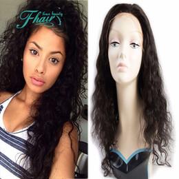 Discount beautiful long hair women - Beautiful Style Super Grade 9A Virgin Peruvian Full Lace Wig Water Wave Human Hair For Black Women With Baby Hair Free S