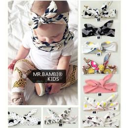 Cute Elastic Headbands Canada - Baby INS bowknot Headbands 9 Design Fashion kids ins Cute Bow Lovely bowknot Headwrap Bowknot Elastic children Accessories