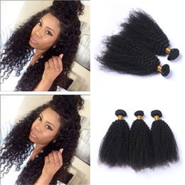 Curly Human Hair For Weaves Canada - Mongolian 9A Human Hair Extensions 4Pcs Lot Afro Kinky Curly Hair Bundles Kinky Curly Hair Weaves For Clack Woman