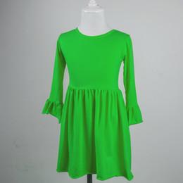 $enCountryForm.capitalKeyWord UK - newborn baby girl simple design single ruffle sleeve clothes baby girl frocks mixed color long sleeve girl child dress
