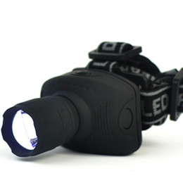 Chinese  600 Lumens LED Headlight Frontal Lantern Zoomable Head Torch head lights for fishing camping hiking free shipping manufacturers