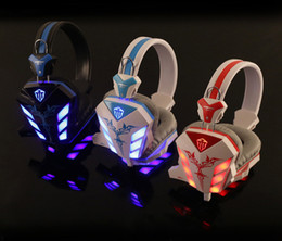 basses for sale Canada - Hot Sale Cosonic CD-618 LED Light Gaming Headphone Hifi Stereo Game Headset Stereo Bass Earphone with Microphone for PC Gamer