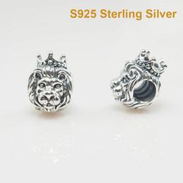 Für Pandora BraceletCharms LION CHARM DIY Beads Solides 925er Silber Nicht plattiert im Angebot