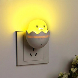 touch happy 2019 - Happy Bird LED Night Light With Light Sensor Control Cute Baby Night Light Baby Bedside Chick&Egg For Decoration Gift ch