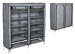 Cover shelf online shopping - Grey Shoe Rack Shelf Storage Closet Organizer Cabinet Portable Layer w Cover