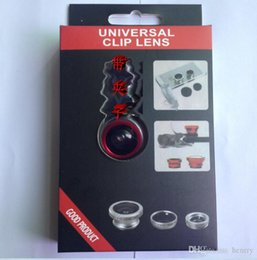 universal phone camera lens Australia - Wholesale Universal mobile phone camera. External effects Self shots. Wide-angle lens + macro + fisheye triple self-timer lens 100pcs a bag