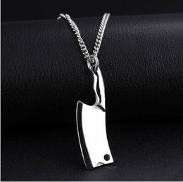$enCountryForm.capitalKeyWord Canada - 2017 New Ariival Top quality 316L Stainless steel Black Gold Steel Colors Knife Pendant Necklace for man