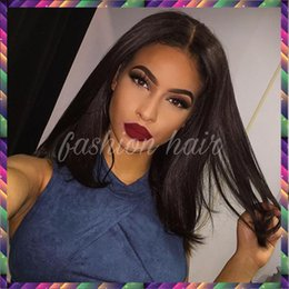 ombre full lace wigs Australia - Short Bob Wavy Human Hair Wigs Bob Body Wave Full Lace Wig or Lace Front Wig Virgin Hair Wig 130% density