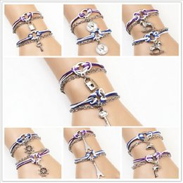 Heart Shaped Chains For Couples UK - New Fashion 1 Pair Heart-shaped Key Charm Bracelet Couple Lover Alloy Bracelets for Valentine's Day Jewelry Cheap Wholesale