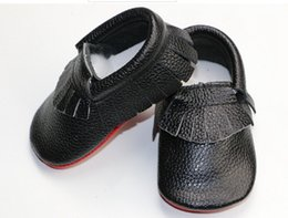 Baby Shoes Red White Australia - New Baby white black red sole leather moccasins shoes soft sole cute patchwork moccasins newborn Moccs Fedex UPS free