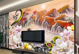 More Anti Australia - Jade carved Mudanjiang more Jiao 3D TV background wall nonwoven wallpaper