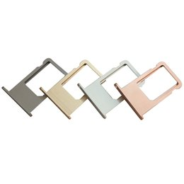 "sim card slot holder iphone UK - Original New Nano Sim Card Tray Adapter Slot Holder for iPhone 6S 4.7"" 6S Plus 5.5"" Gold Rose Gold Silver Gray"