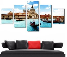 $enCountryForm.capitalKeyWord Australia - HD Printed Wall Modular Pictures For Living Room New York City Modern Painting On The Wall 5 P Canvas Art Painting
