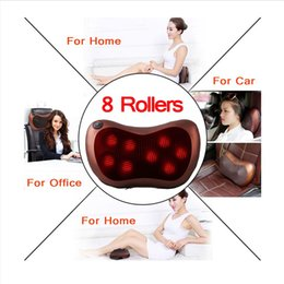 muscle cars NZ - Electric Massage Neck Pillow Massager Shiatsu with Car&Home&Office 8 ball Shiatsu Heat Therapy Massaging Pillow That Relieve Sore Muscles