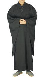 Опт Шанхайская история унисекс высокое качество шаолиньский храм дзен буддийские халат монах медитация платье кунг-фу тренировочная форма костюм для лета