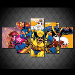 $enCountryForm.capitalKeyWord NZ - 5 Pcs Set Framed Printed Anime characters.Painting Canvas Print room decor print poster picture canvas Free shipping ny-5066