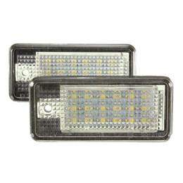 $enCountryForm.capitalKeyWord NZ - 2Pcs White Car Error 18 LED License Number Plate Light Lamp For Audi A3 S3 A4 S4 B6 B7 A6 S6 A8 Q7 Free Shipping order<$18no track