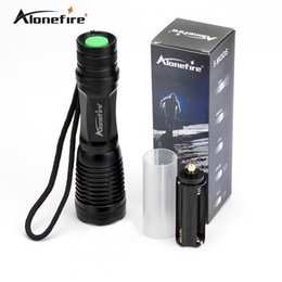 Discount lamp for camping - Alonefire G700 E007 CREE XM-L T6 3800Lumens 5-Mode LED Zoomable Flashlight torches T6 Lamp Light For (3 *AAA   1 *18650)